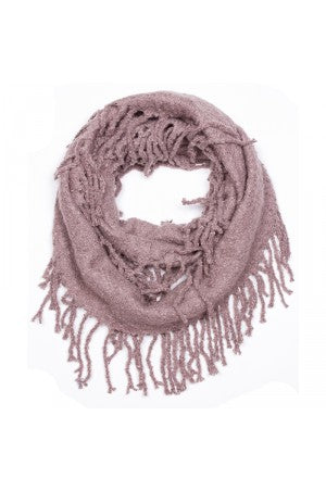 Witchy Poo Taupe Chenille Fringe Infinity Scarf