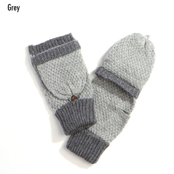 Witchy Poo's Grey Classic Fingerless Gloves