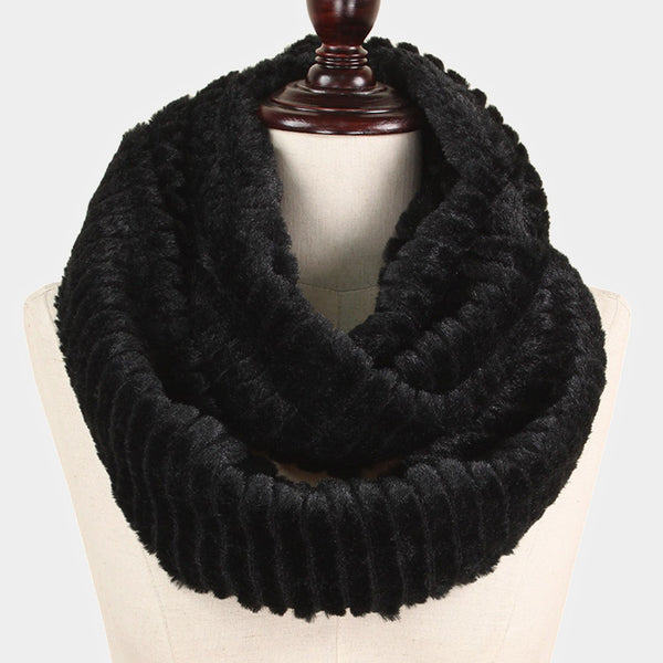 Witchy Poo's Black Faux Fur Infinty Scarf