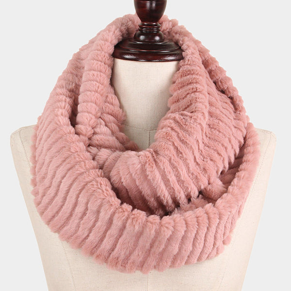 Witchy Poo's Dusty Pink Faux Fur Infinty Scarf