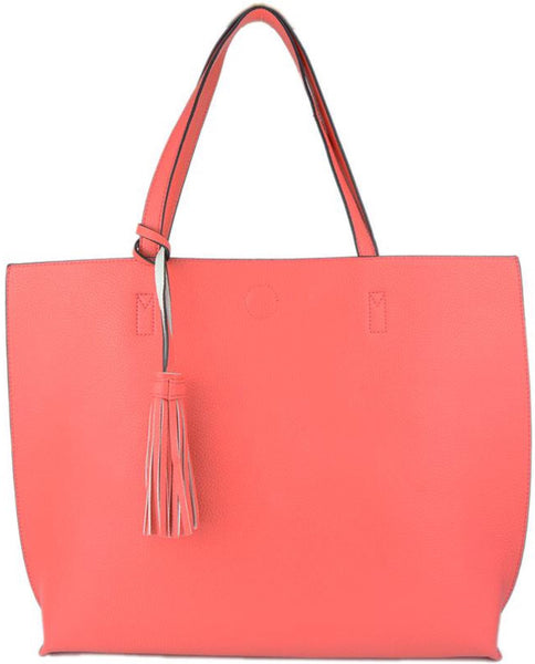Witchy Poo's Coral /Ivory Tote