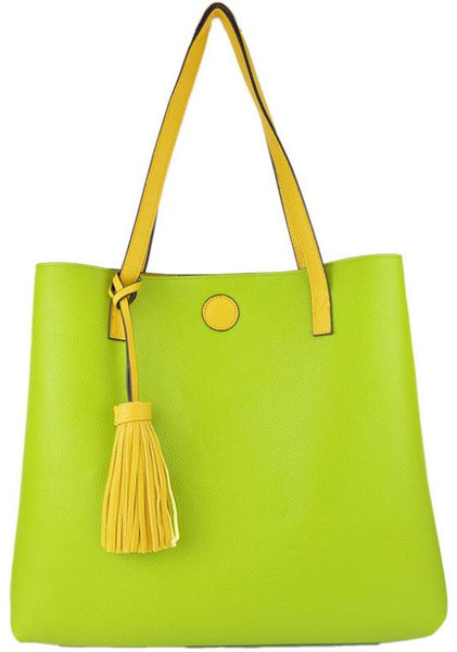 Witchy Poo's Yellow Tassel Tote