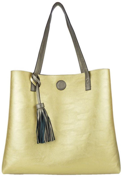 Witchy Poo's Pewter / Gold Tote
