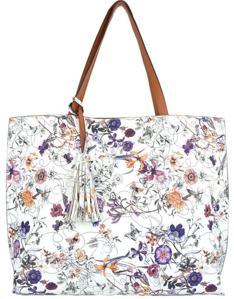 Witchy Poo's Spice Floral Tassel Tote