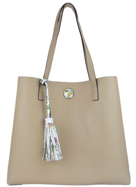 Witchy Poo's Spring Floral Tassel Tote