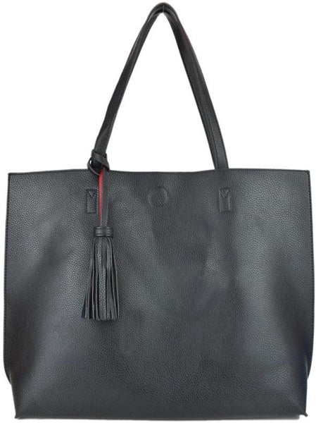 Witchy Poo's Black/RedTassel Tote