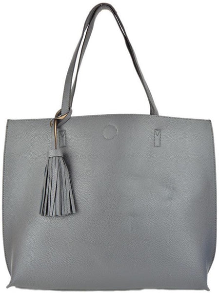 Copy of Witchy Poo's Gray / Beige Tassel Tote