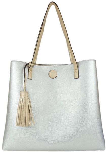 Witchy Poo's Rose Gold Tassel Tote
