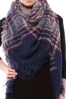 Copy of Witchy Poo's Navy Chenille Tweed  Blanket Scarf