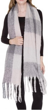 Witchy Poo's Chunky Grey Buffalo  Scarf