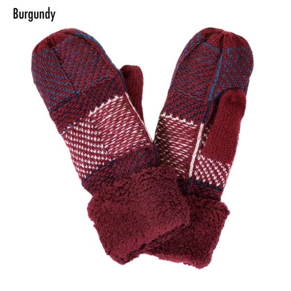 Witchy Poo's  Burgandy Classic Mitten