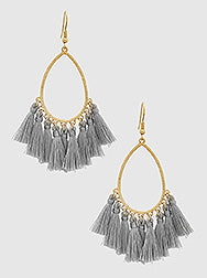 Witchy Poo Gray Tassel Earring