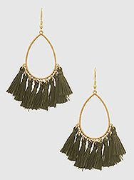 Witchy Poo's Turquoise Tassel Earring