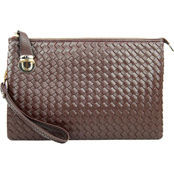 Witchy Poo's Buckle Weave Clutch
