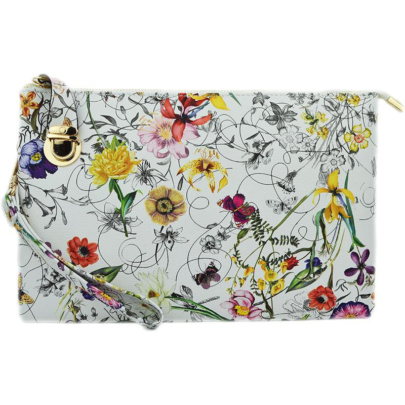 Witchy Poo's Floral Buckle Clutch