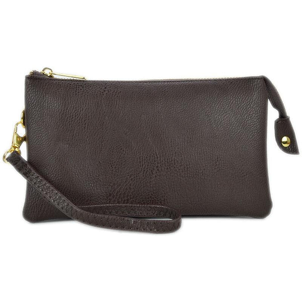 Witchy Poo's Faux Ostrich  Convertable Wallet / Cross Body Bag