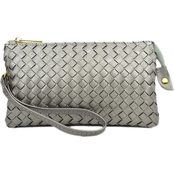 peweter woven wristlet