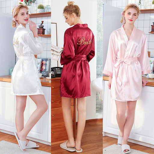 Bridesmaid Robes // Lace Bridal Robe // Bridal Robe // Bride Robe // Bridal Party Robes // Bridesmaid Gifts // Satin Robe // AVIANA
