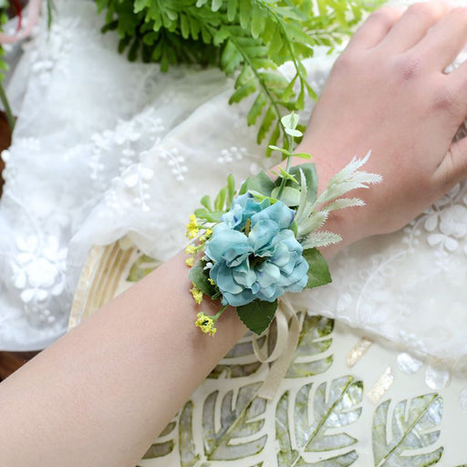 Corsage, Flower Hand Bracelet, Bridesmaids Wrist Corsage, Bridesmaids Flower Accessories, Flower Wrist Corsage, Flower Girl