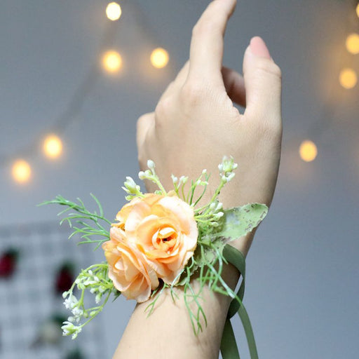 Flower Wrist Corsage, Flower Hand Bracelet, Bridesmaids Wrist Corsage, Bridesmaids Flower Accessories, Flower Girl Accessories
