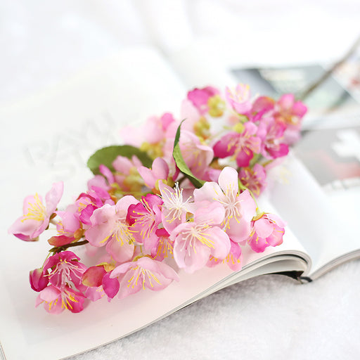 Comfyee Pink Weddings Hand Flowers Fake Artificial Cherry Blossom Silk Flower