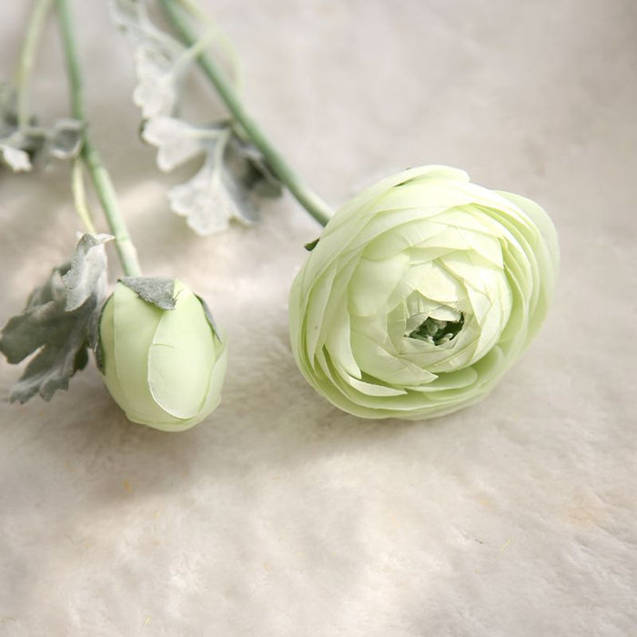 Comfyee Green Weddings Bouquets Artificial Lotus Silk Flower