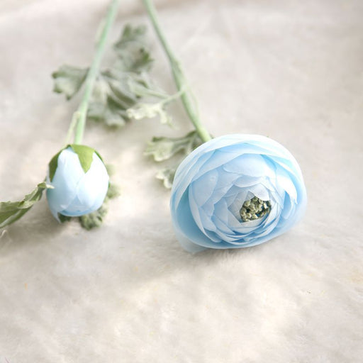 Comfyee Sky Blue Weddings Bouquets Artificial Lotus Silk Flower