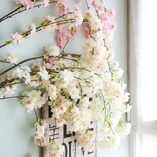 Comfyee  Fake Artificial Cherry Blossom Silk Flower