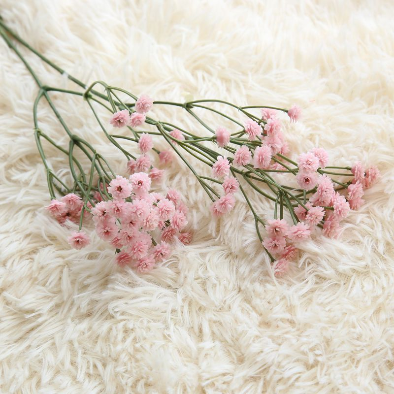 Comfyee Pink Weddings Bouquets  DIY Realistic Baby's breath Artificial Silk Flower