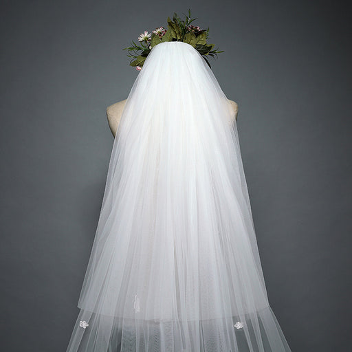 Simple Soft Tulle Wedding Veil,Plain Edge Bridal Veil,Cathedral Veil,Chapel Bridal Veil,Classic Veil, 13 ft 2 tier Super Long Veil with comb
