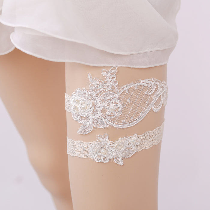 Off White Lace Bridal Garter, Wedding Garter, Lace Garter , Bride Garter, Vintage Leaf Garter,Garters For Wedding