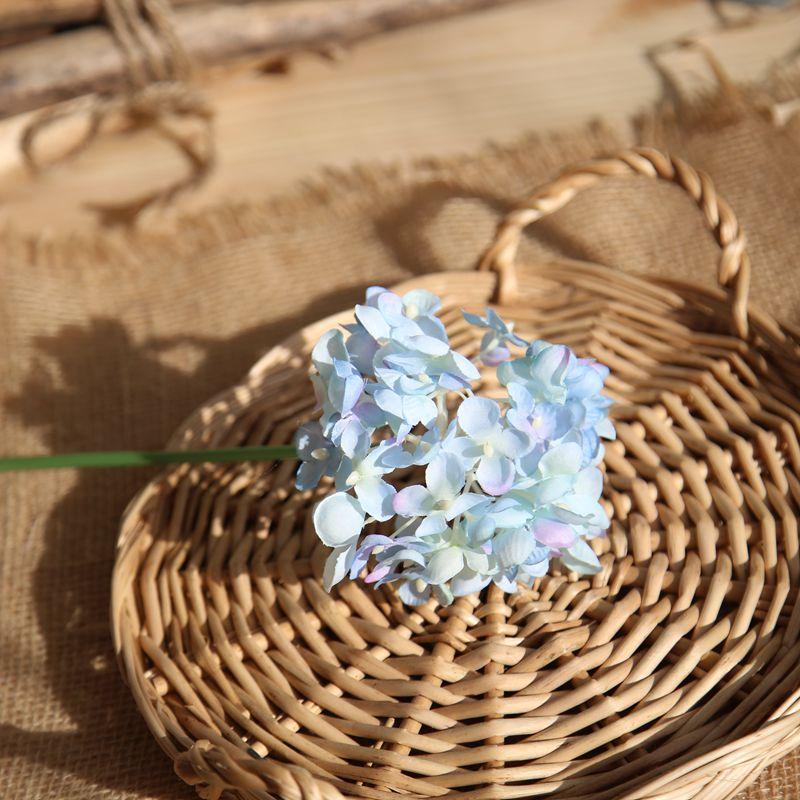 Comfyee Sky Blue Wedding Bouquets Hydrangea Artificial Flower