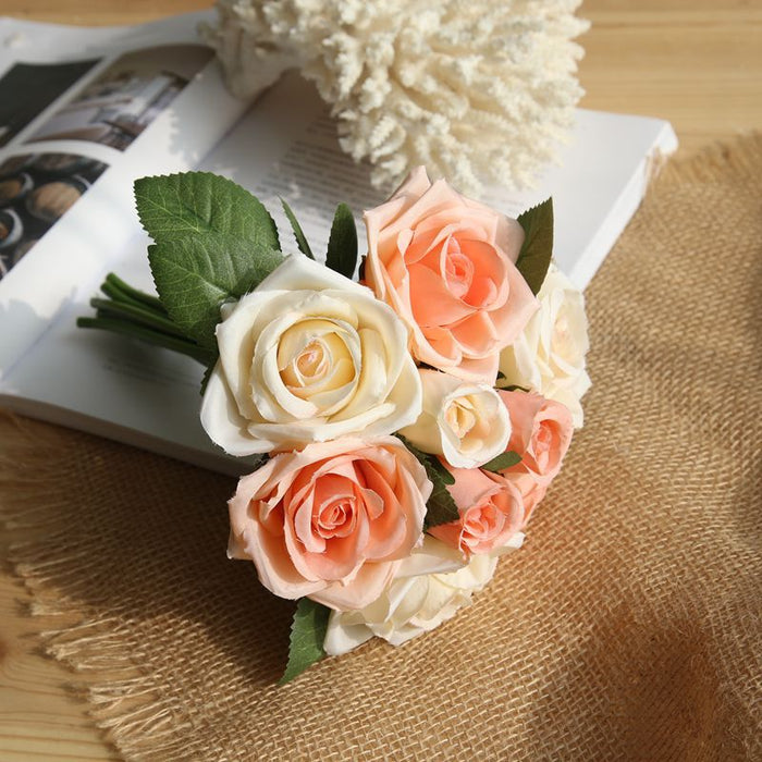 Comfyee Pink Wedding Artificial Rose Flower Boutiques Bushes