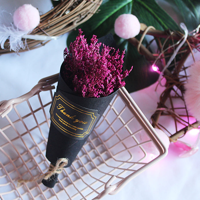 Burgundy Dry Flowers Boutonniere / Rustic Floral arrangement with purple English Lavender / Groomsmen Gift