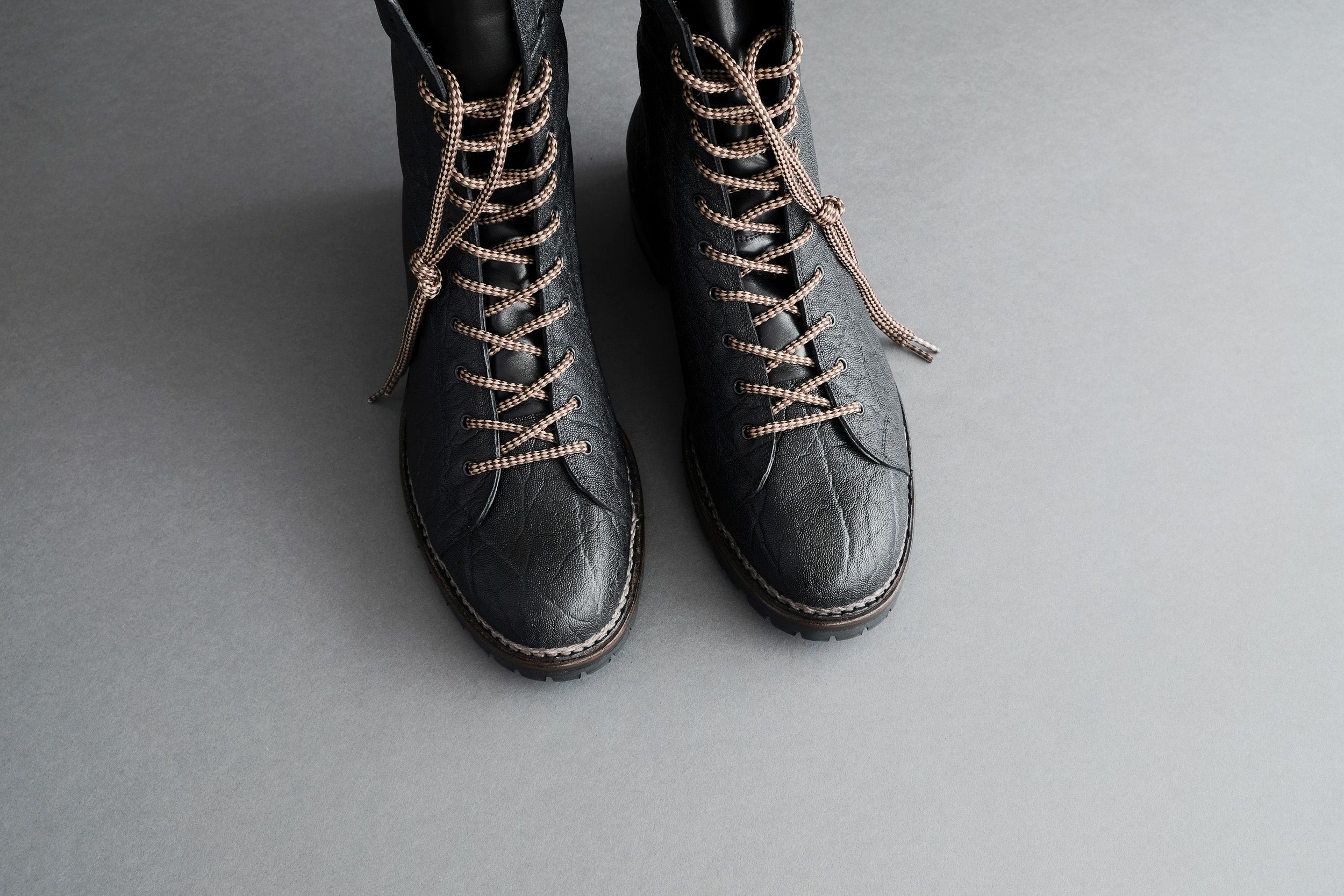 Zonkey Boot Parachute boots in elephant leather with Norvegese rubber soles