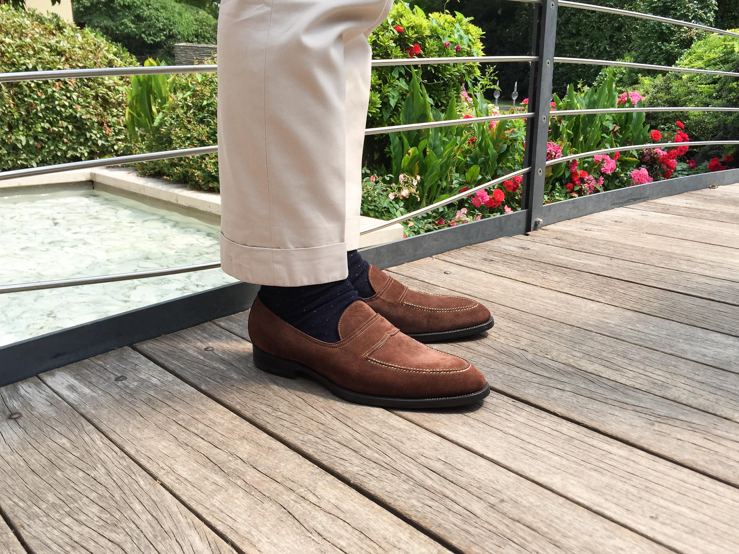 Zonkey Boot hand welted classic loafers from brown suede