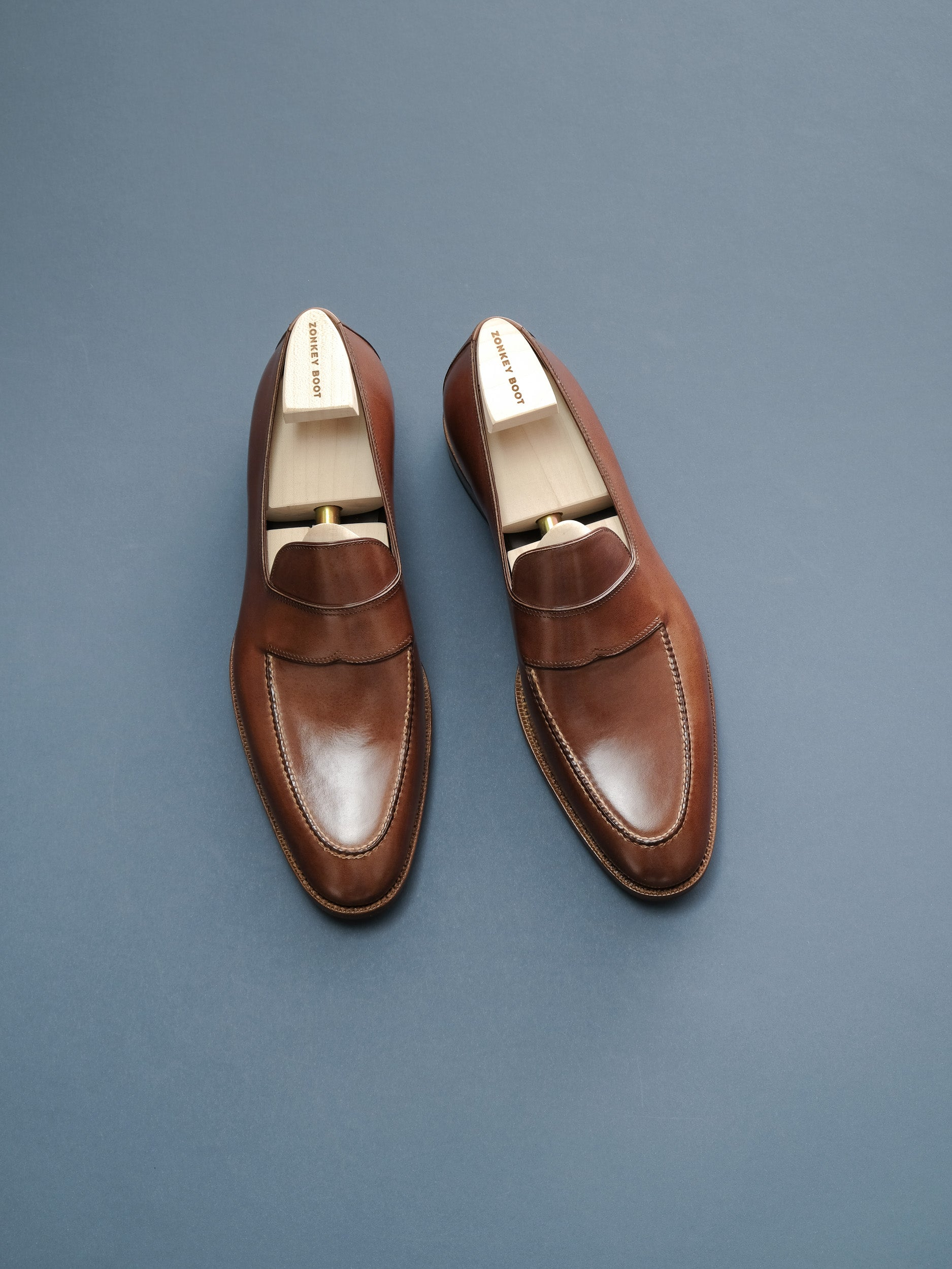 Zonkey Boot hand welted classic loafers with hand sewn aprons