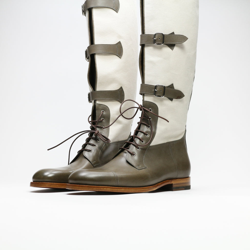 Zonkey Boot hand welted riding boots from calf leather and canvas