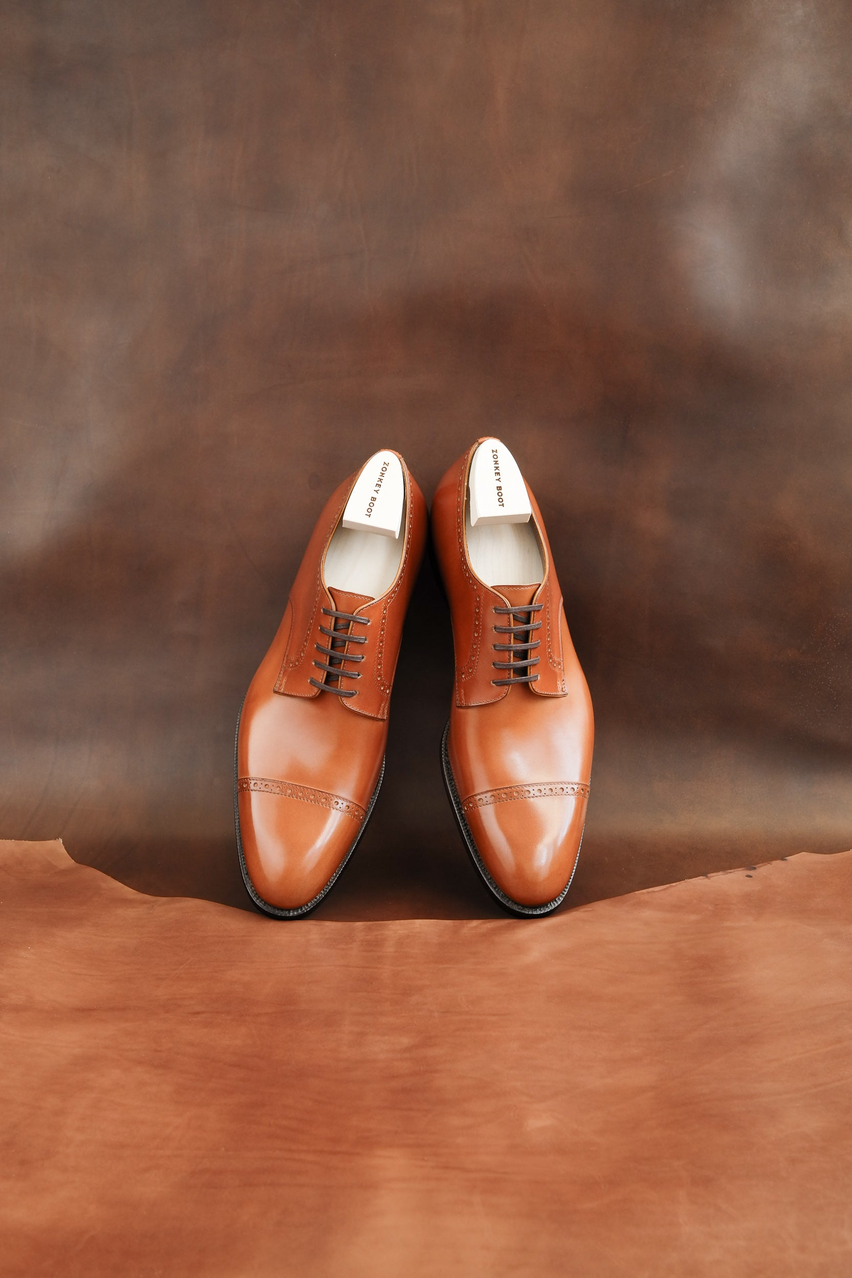 Zonkey Boot hand welted toe-cap derby shoes with brogueing