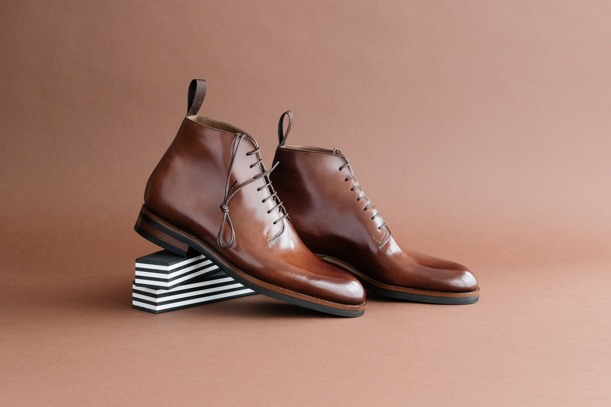 Zonkey Boot hand welted wholecut oxfords from Toscani Bavarian Calf