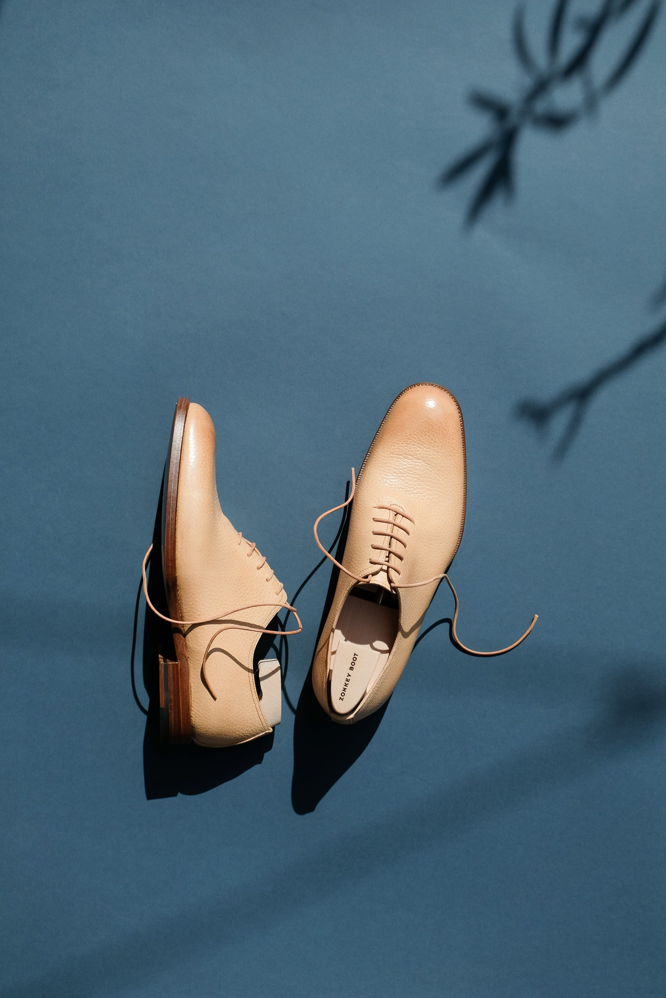 Zonkey Boot hand welted wholecut oxfords in vegetable tanned calf leather