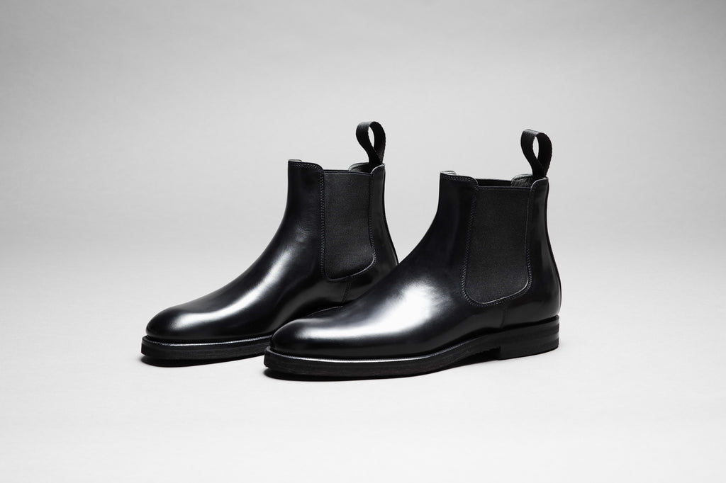 Zonkey Boot ladies Chelsea boots from black calf leather