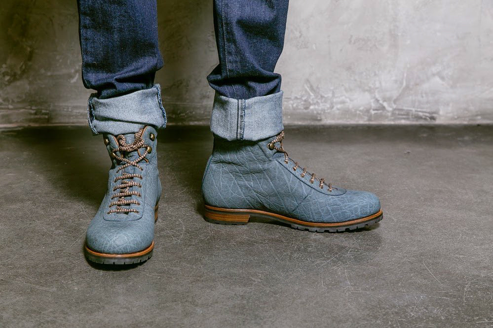 Zonkey Boot mountain boots from elephant leather in Blake construction