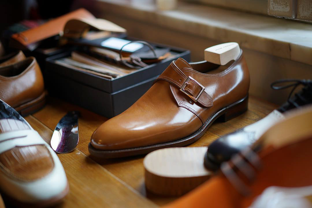 Zonkey Boot single buckle monks with hand welted leather soles