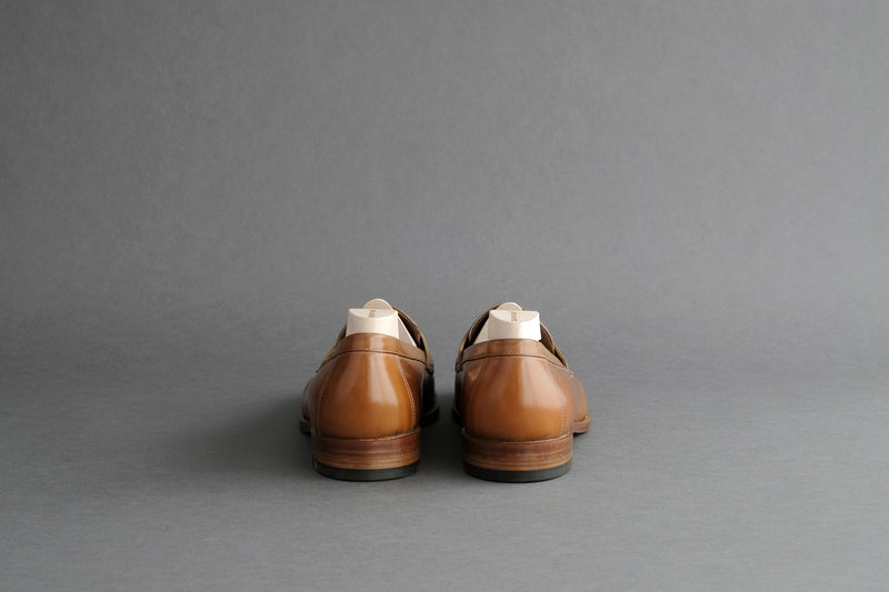 ZeroThreeEight.Alan Penny Loafers From Bavarian Wax Calf