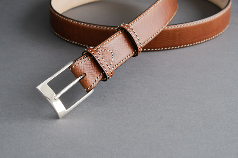 Made-To-Measure Handmade Belt In Russian Calf
