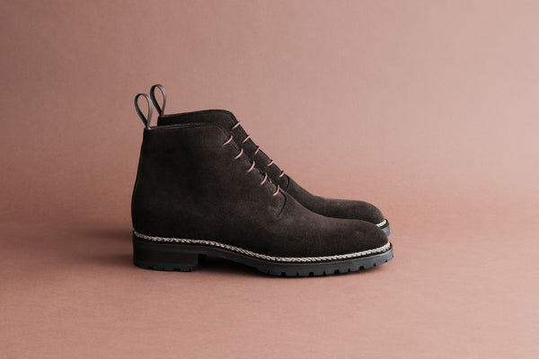 TwoThreeOne.Moritz Wholecut Derby Boots from Calf Suede