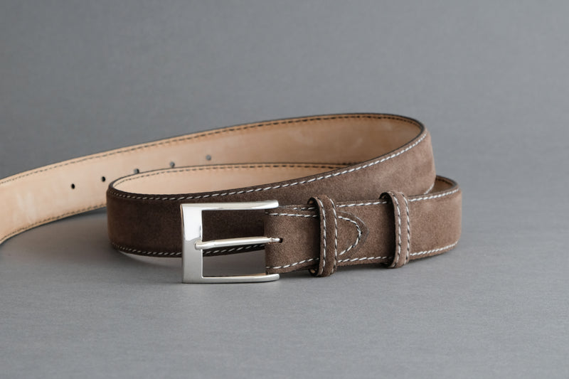 Handmade Made-to-Measure Belt from Hunting Suede