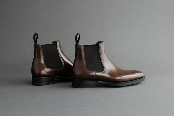 ZeroThreeThree.Umber Classic Chelsea Boots From Bavarian Calf Leather