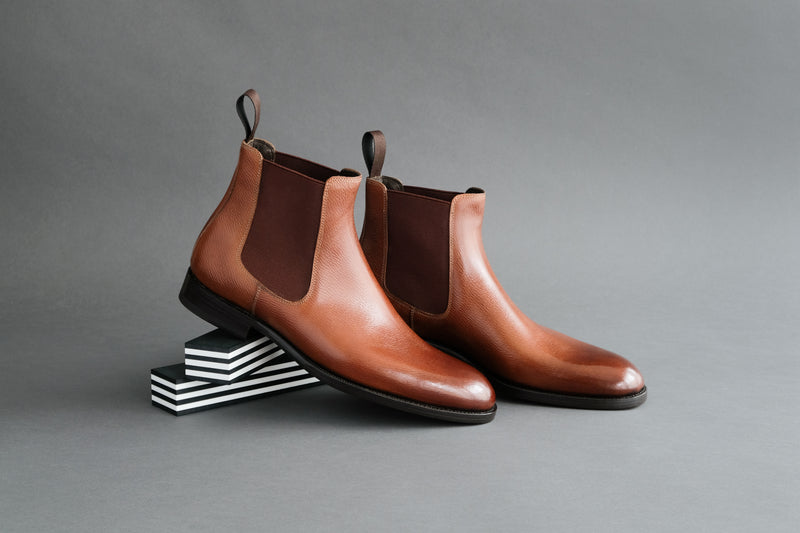 ZeroThreeThree.Liam Chelsea Boots From Long Grain Russian Calf